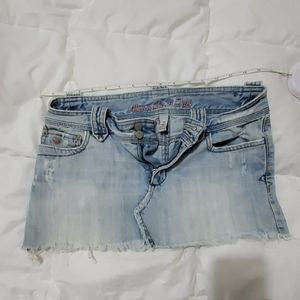 Abercrombie & Fitch Light blue Jean Skirt